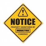 Moultrie Camera Surveillance Signs - 3 Pack